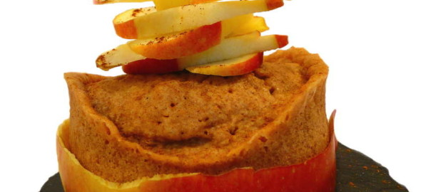Apfel Zimt Wölkchen Mikrowellenkuchen Beitragsbild