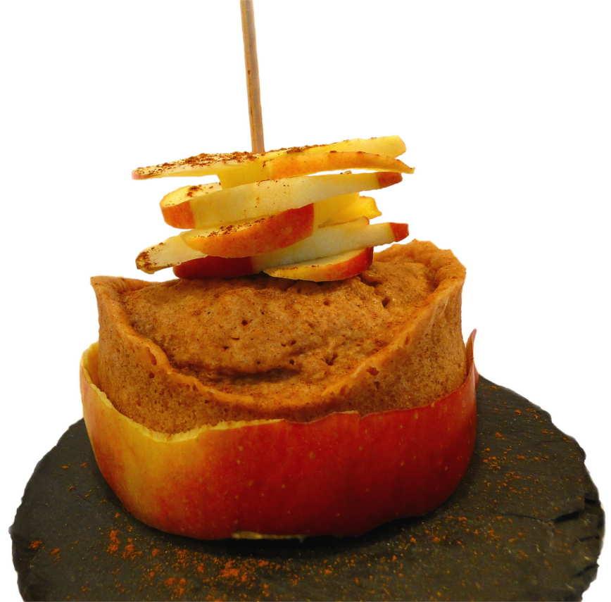 Apfel Zimt Wölkchen Mikrowellenkuchen