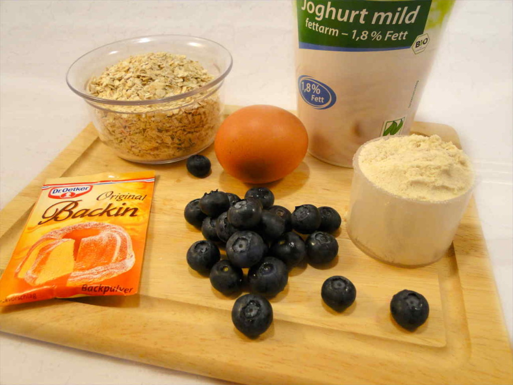 Blaubeer Mug Cake Mikrowellenkuchen Zutaten