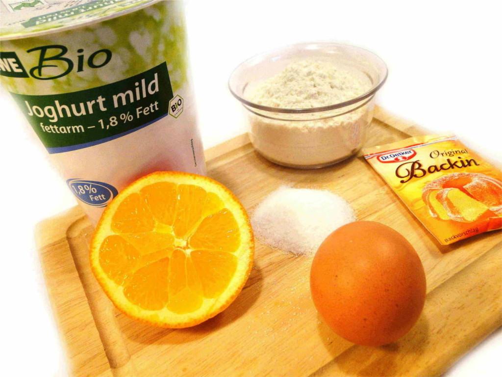 Saftige Orange Zutaten