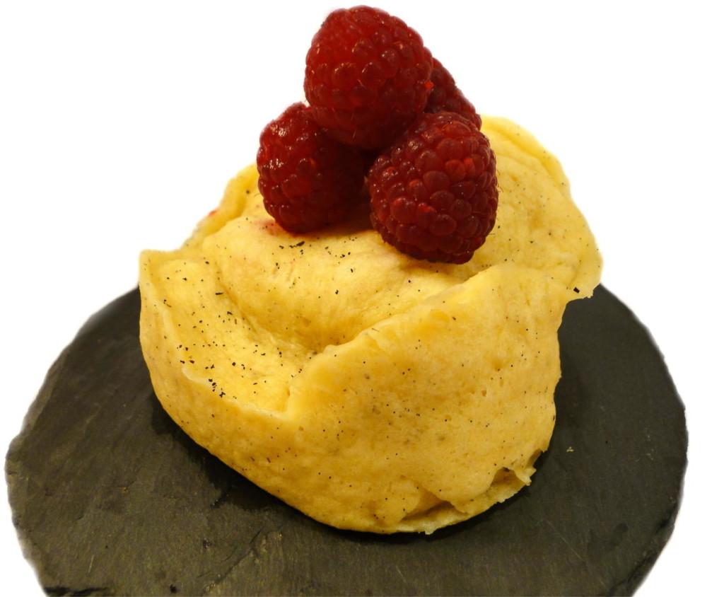 Vanille Himbeere Mug Cake